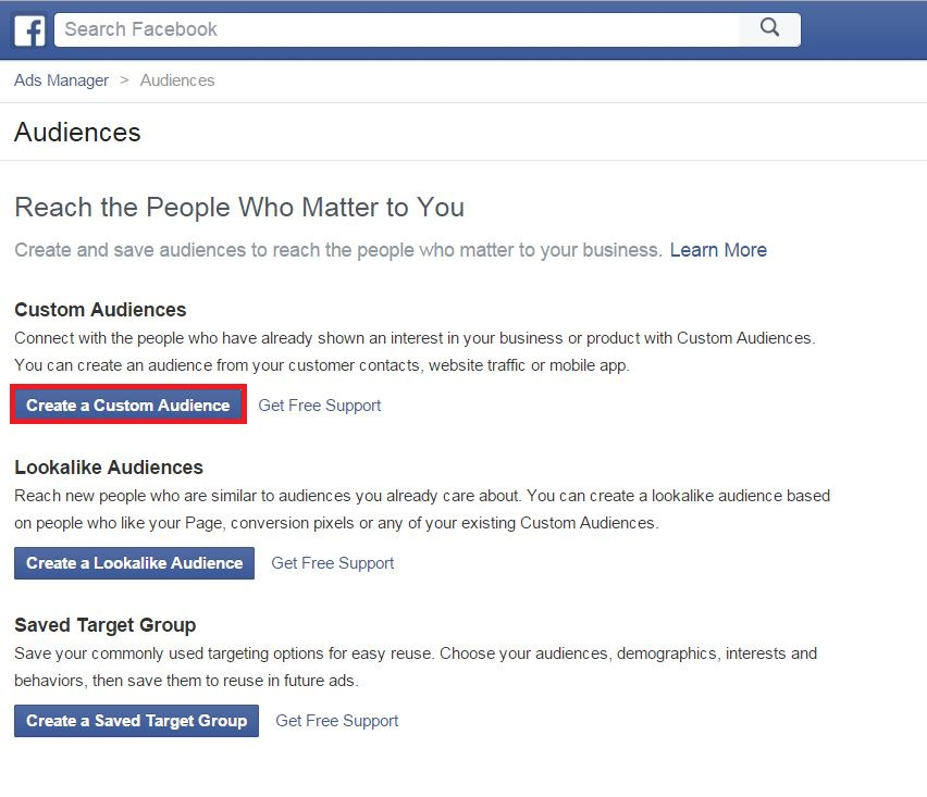How to Set Up Facebook Custom Audience 3